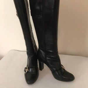 Boutique9 Black Leather Boots sz 10